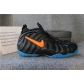 Authentic Nike Air Foamposite Pro Knicks Black Battle Blue